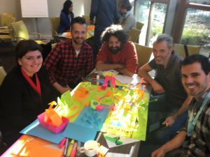 Participants building the ultimate zoo